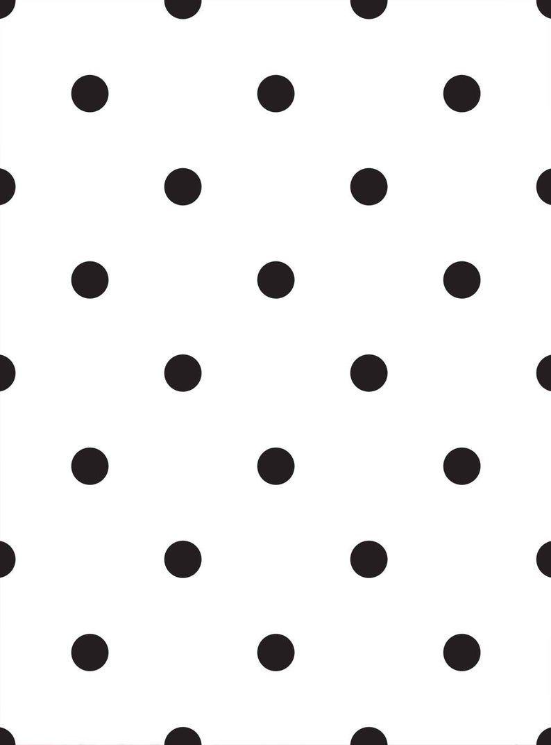 Small Polka Dots Peel Stick Fabric Wallpaper Repositionable Etsy Polka Dots Wallpaper Dots Wallpaper Fabric Wallpaper