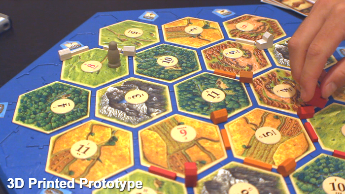 Settlers Of Catan Solid Board Surface Secure Hex Tiles And Frame