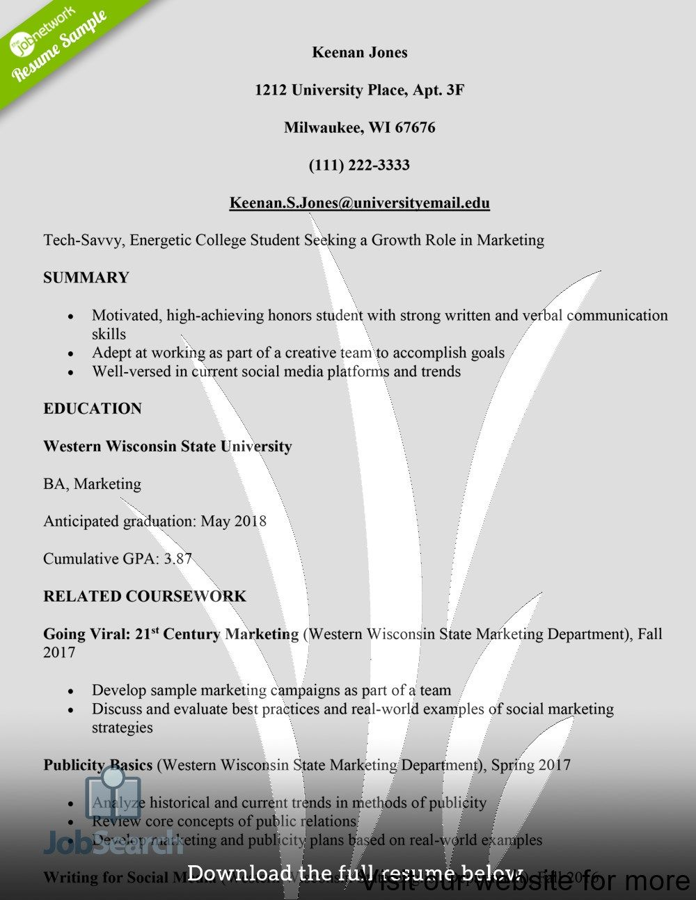 resume template education section in 2020 Resume
