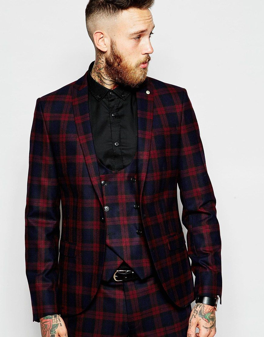 Image 1 of ASOS Skinny Suit Jacket in Plaid Check | Debonair ...