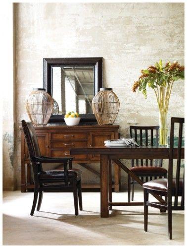 Modern Craftsman 7-piece Breadmaker\u0027s Gathering Dining Table Set | #GREATHOUSE & Modern Craftsman 7-piece Breadmaker\u0027s Gathering Dining Table Set ...