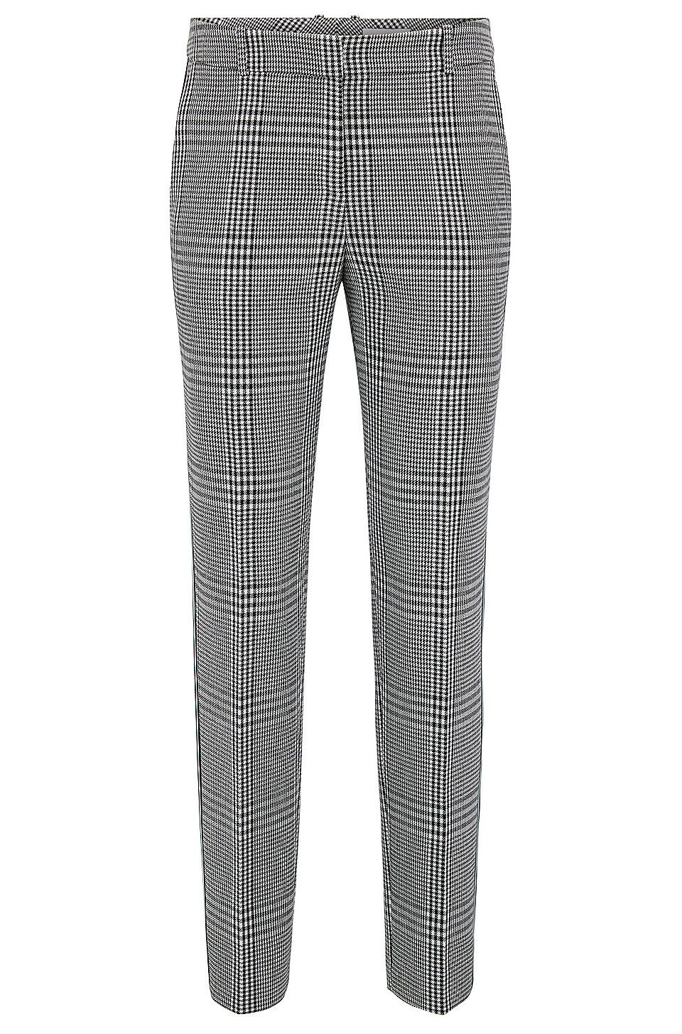 8dee2a3470 Tapered pants in Glen-check fabric with striped taping in 2019 ...