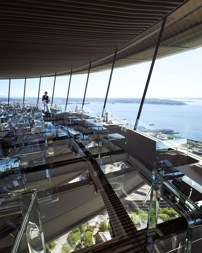 Redesign Of Seattle Space Needle Includes Glass Floors For Dining Experience At 500 Feet Space Needle Seattle Seattle Travel Seattle