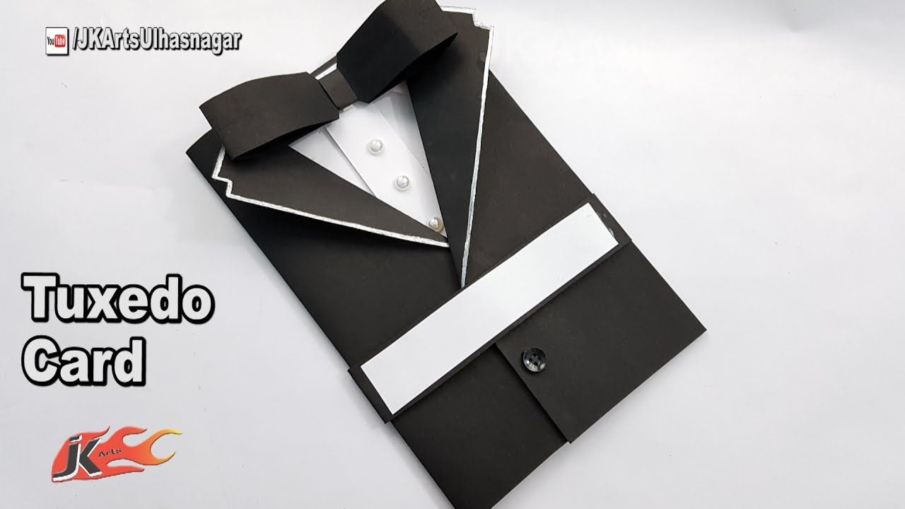 Fathers day card idea how to make suit tuxedo card jk arts 1234 diy suit jackettuxedo birthday cardhow to make greetings for birthdayfathers dayfriendship dayvalentine dayblack suit jacket card for brother in kristyandbryce Choice Image