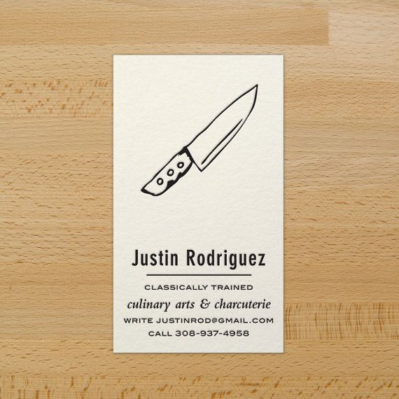 Chefs knife custom letterpress business cards for sale on etsy chefs knife custom letterpress business cards for sale on etsy 9700 reheart Images