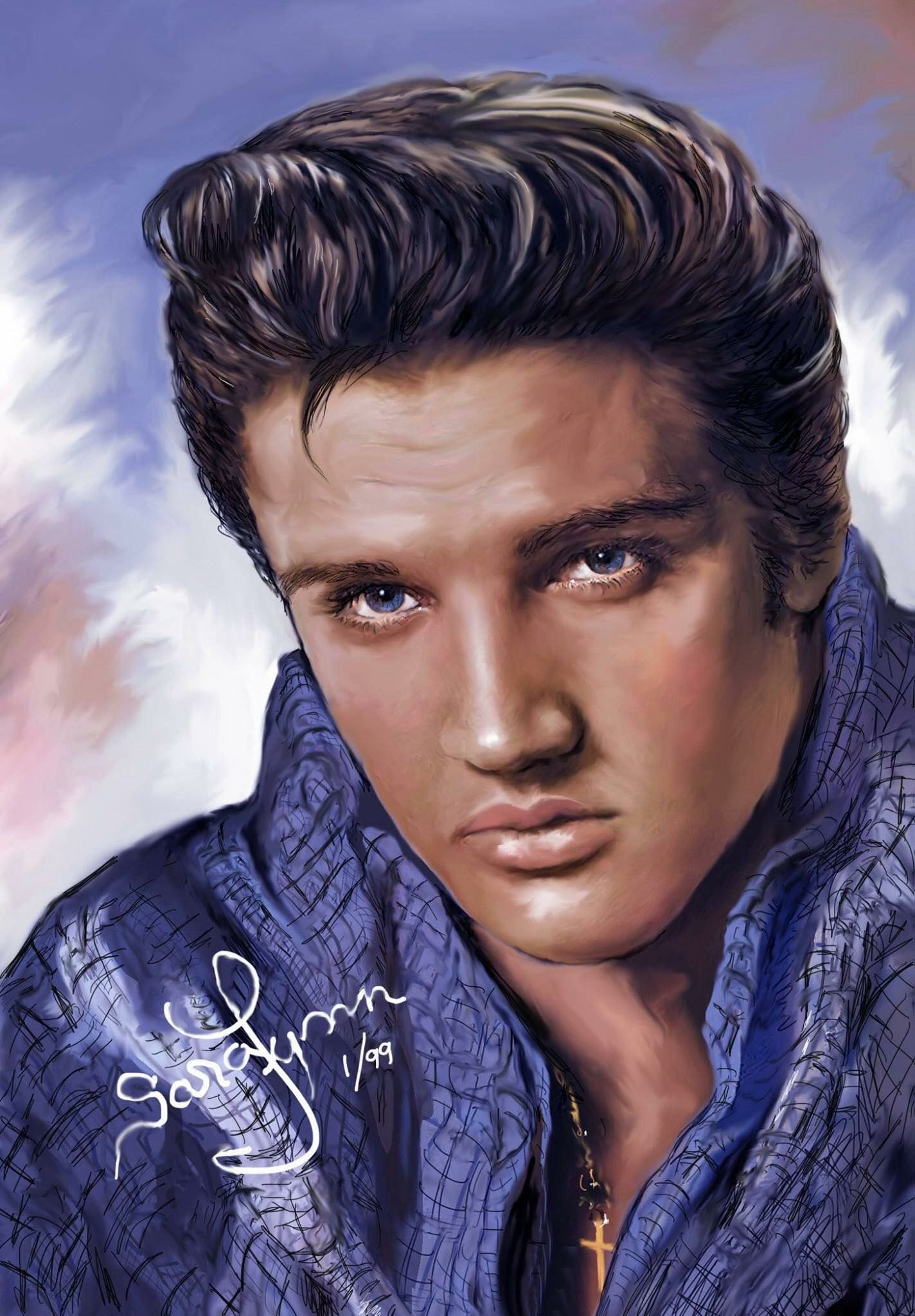 Elvis Presley painting by Andy Warhol sells for $82 ...  |1977 Elvis Painting