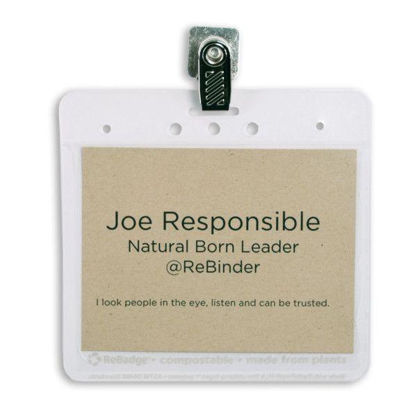 ReBadge Eco-Friendly Badge Holder Kit - 125 badgesGreen Eco-Friendly