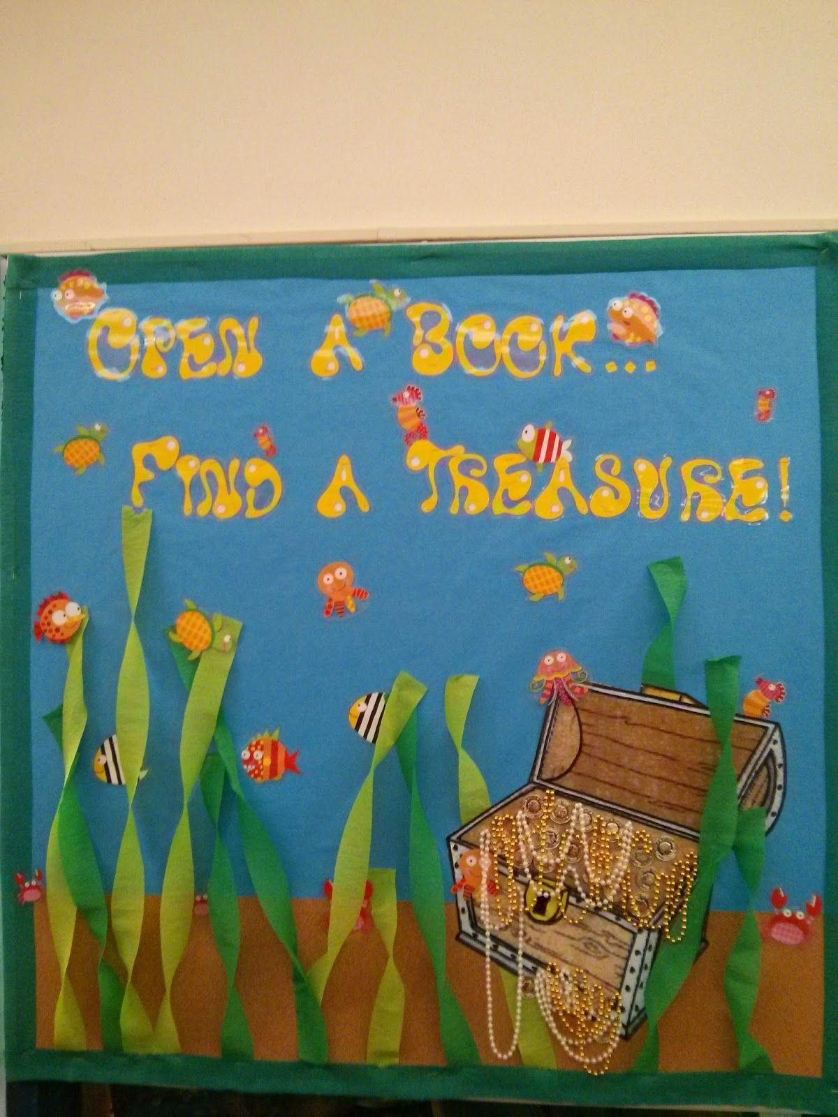 Our bulletin board turned out AWESOME! Thanks Cindy!! The Library at ...