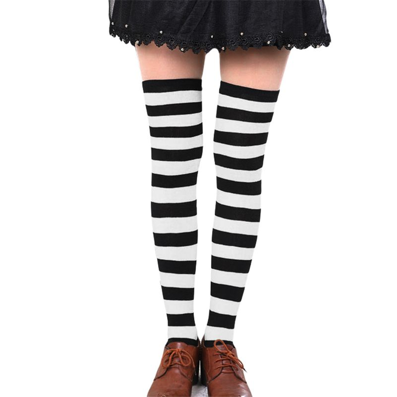 1f3771499 Hot New Sexy Women Girl Striped Cotton Thigh High Stocking Over the Knee  Socks Fashion Stockings For Dating Cosplay Cheap F1. Yesterday s price  US   1.80 ...