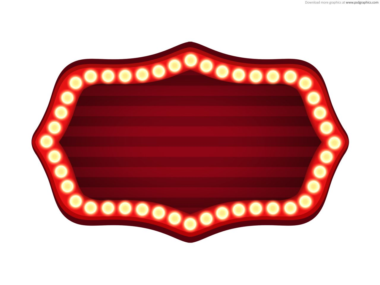 marquee lights frame - Google Search | Few of My Favorite Things ...