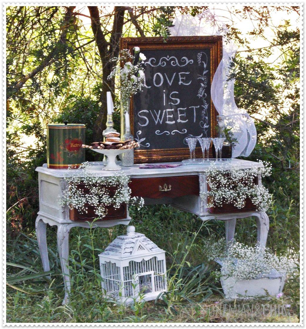 Para bodas con una decoraci n nica original y - Muebles de entrada vintage ...