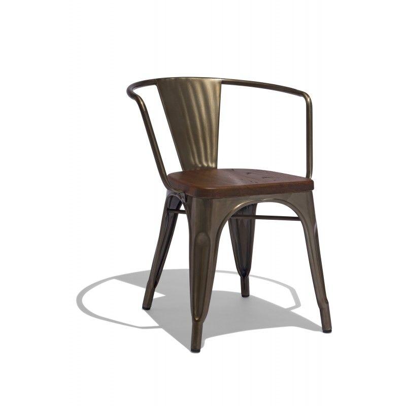 "Marais Armchair with a Wood Seat dimensions: Base: 17""x17 ..."