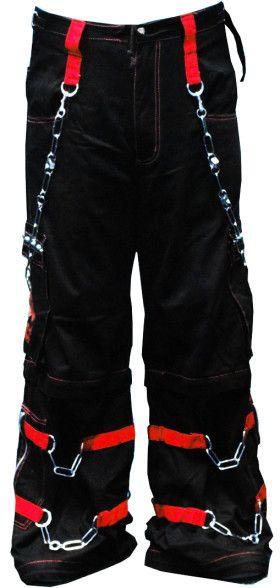 "0b68a4de44d Tripp Pants Black and Red - Tripp NYC ""Electro Skull"" Bondage Pants (Black"