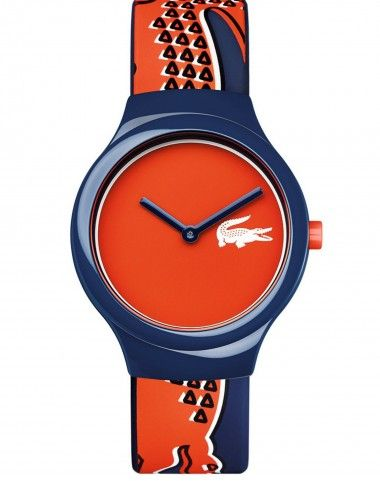 f3351dd113d Lacoste New Goa Orange and Blue Croc Logo Strap Watch - Lacoste from Burns  Jewellers UK