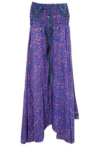 Women's Skirt Blue Floral Printed Vintage Sari Gypsy Long Skirts Mogul Interior http://www.amazon.com/dp/B017H0HEOK/ref=cm_sw_r_pi_dp_UHHCwb03BJGHF