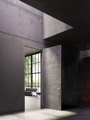 L Invisibile IN-FINITO Hinged door, Kerlite finishing, Private villa - Mexico City