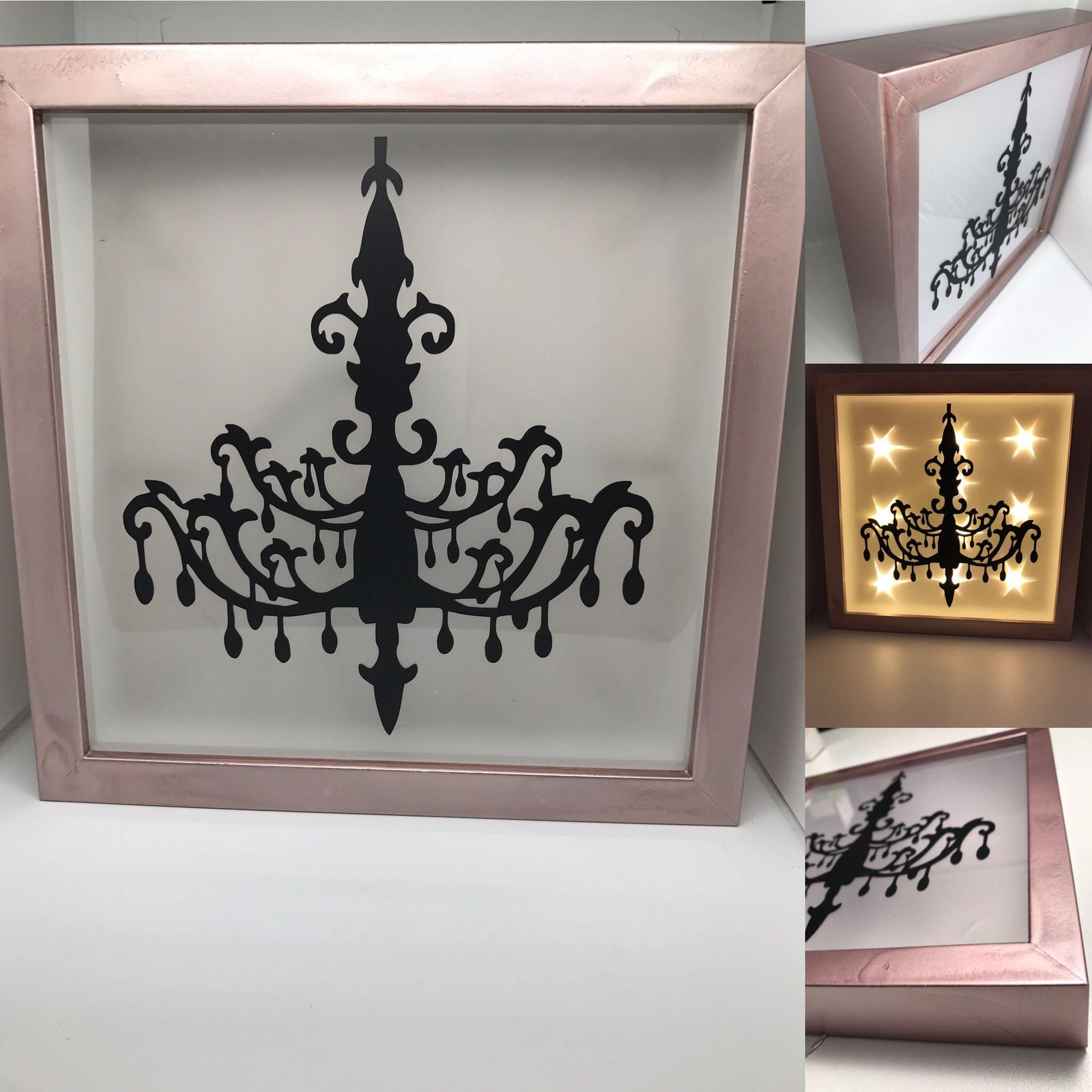 Beleuchteter Bilderrahmen Kronleuchter 3D Rahmen LED Vintage Shabby ...
