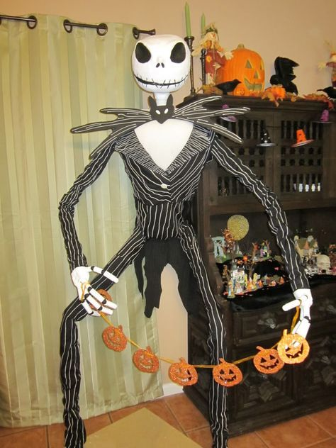 Life Size Jack Skellington WIP, will be doing this for next years - life size halloween decorations