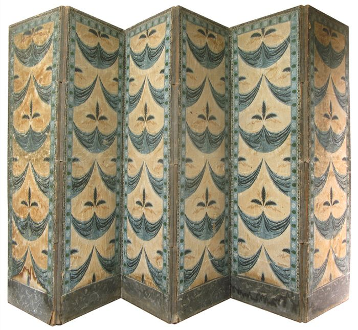 French ~ Antique ~ Paper Screen ~ Folding Screen From Xavier Nicod Via 1stdibs