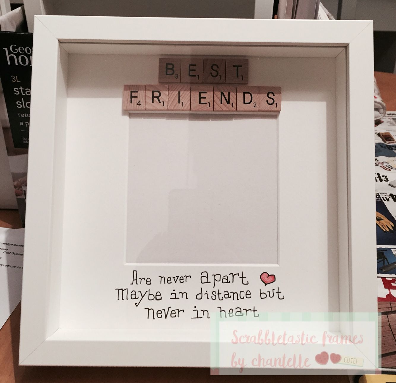 Best friends frame | Need to do. | Pinterest | Scrabble frame and ...