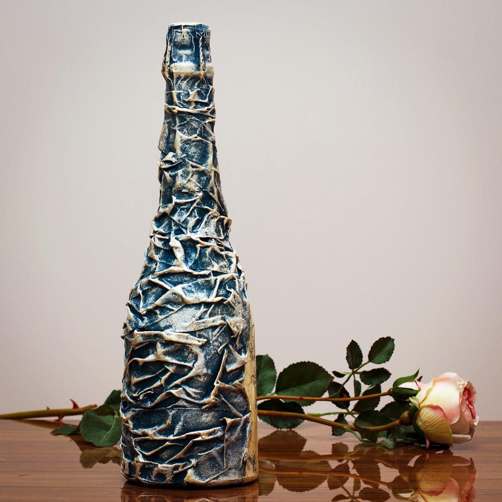 Дизайн бутылок своими руками фото девочки ведут