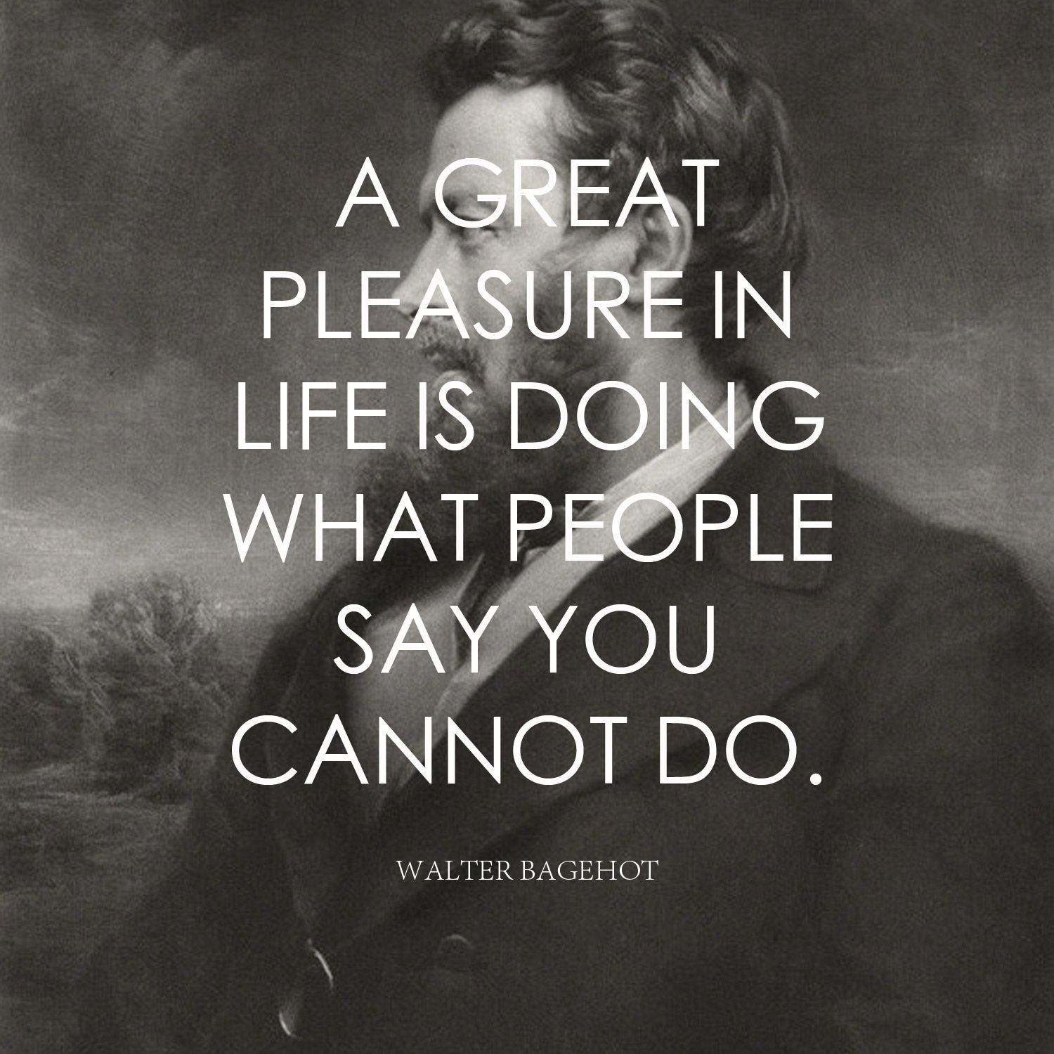 Lifes Great Quotes A Great Pleasure In Life Is Doing What People Say You Cannot Do