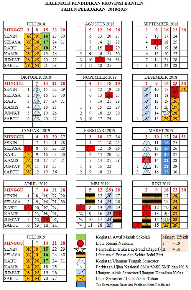 Kalender Pendidikan Provinsi Banten Tahun 2020