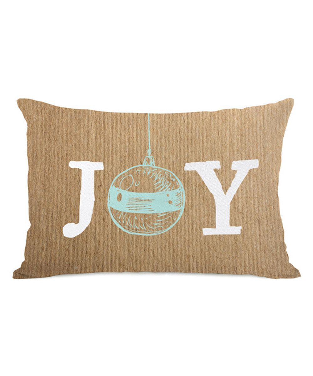 Look at this Brown 'Joy' Ornament Pillow on #zulily today!