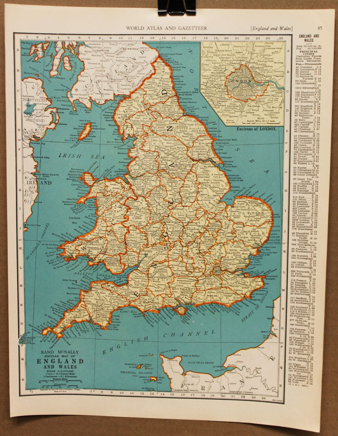Vintage map england great britain wales original 1935 everything vintage map england great britain wales original 1935 gumiabroncs Image collections