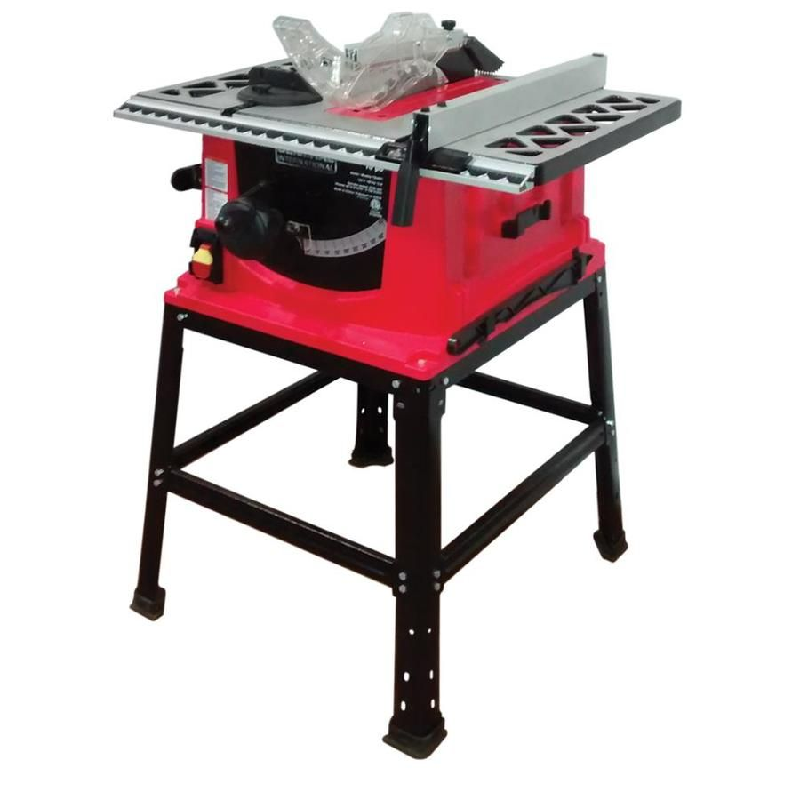 General International Tablesaws 10 In Bi Metal Blade 13 Amp Portable Table Saw Lowes Com In 2020 Portable Table Saw Best Table Saw Diy Table Saw