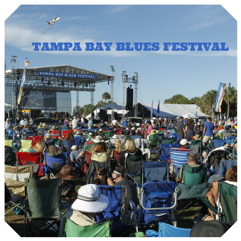 """Experience world-class music, in a relaxing and comfortable setting- """"TAMPA BAY BLUES FESTIVAL 2017"""" Book a flight with www.westpalmjetcharter.com or call 1-888-502-8587."""