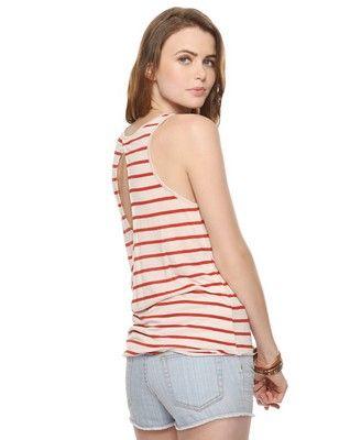 Striped Peekaboo Back Tunic   FOREVER21 - 2000034027