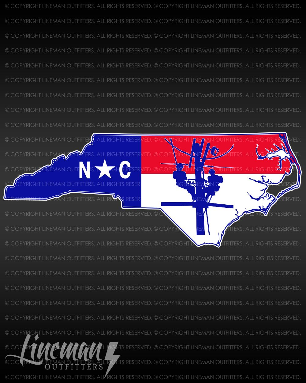 784718ac Nc state flag linemen decal | Lineman Outfitters | Lineman, North ...