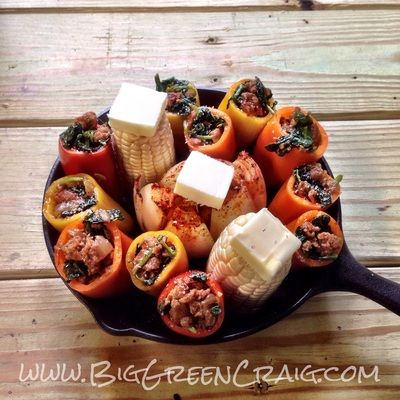 Stuffed Peppers - BIG GREEN CRAIG Anything can be cooked on a Big Green Egg!