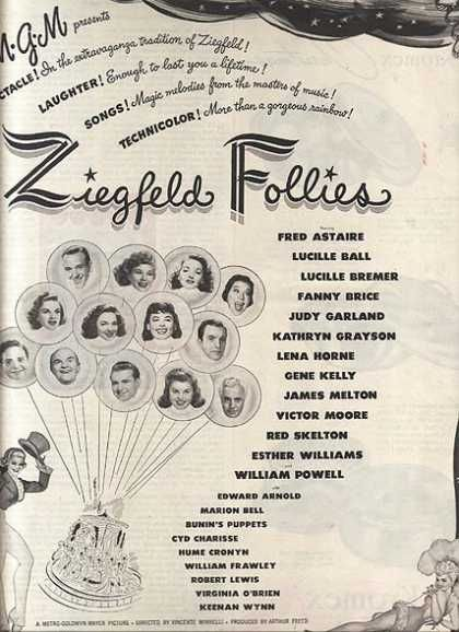 Ziegfeld Follies (Fred Astaire, Lucille Ball, Fanny Brice, Judy Garland, Lena Horne, Gene Kelly, Red Skelton, Esther Williams) (1945)
