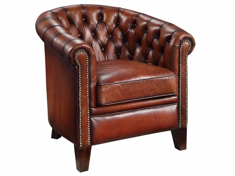 Best Chesterfield Tub Chair Brown Leather Chairs Chair 400 x 300