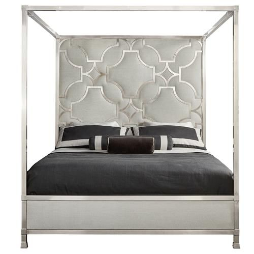 Hayley Hollywood Regency Upholstered Canopy Bed - King