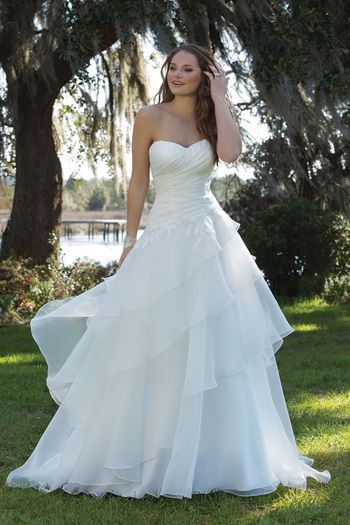Sweetheart Gowns - Style 6182: Strapless Ball Gown with Draped Waist ...