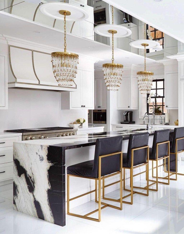 Glamorous White Kitchen Designed by Interior Desig