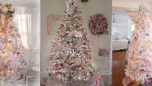 Albero Di Natale Rosa Cipria E Oro.Addobbi Di Natale Rosa Cipria Per Un Natale Glamour
