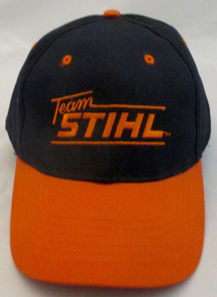 Cap Stihl Two-Tone Orange and Black Twill Value Hat New