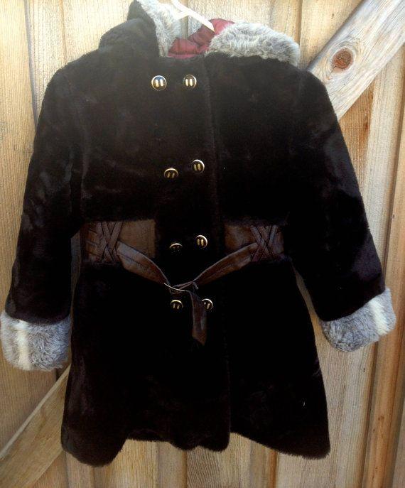 Vintage Girls Coat 7/8 by lishyloo on Etsy, $60.00
