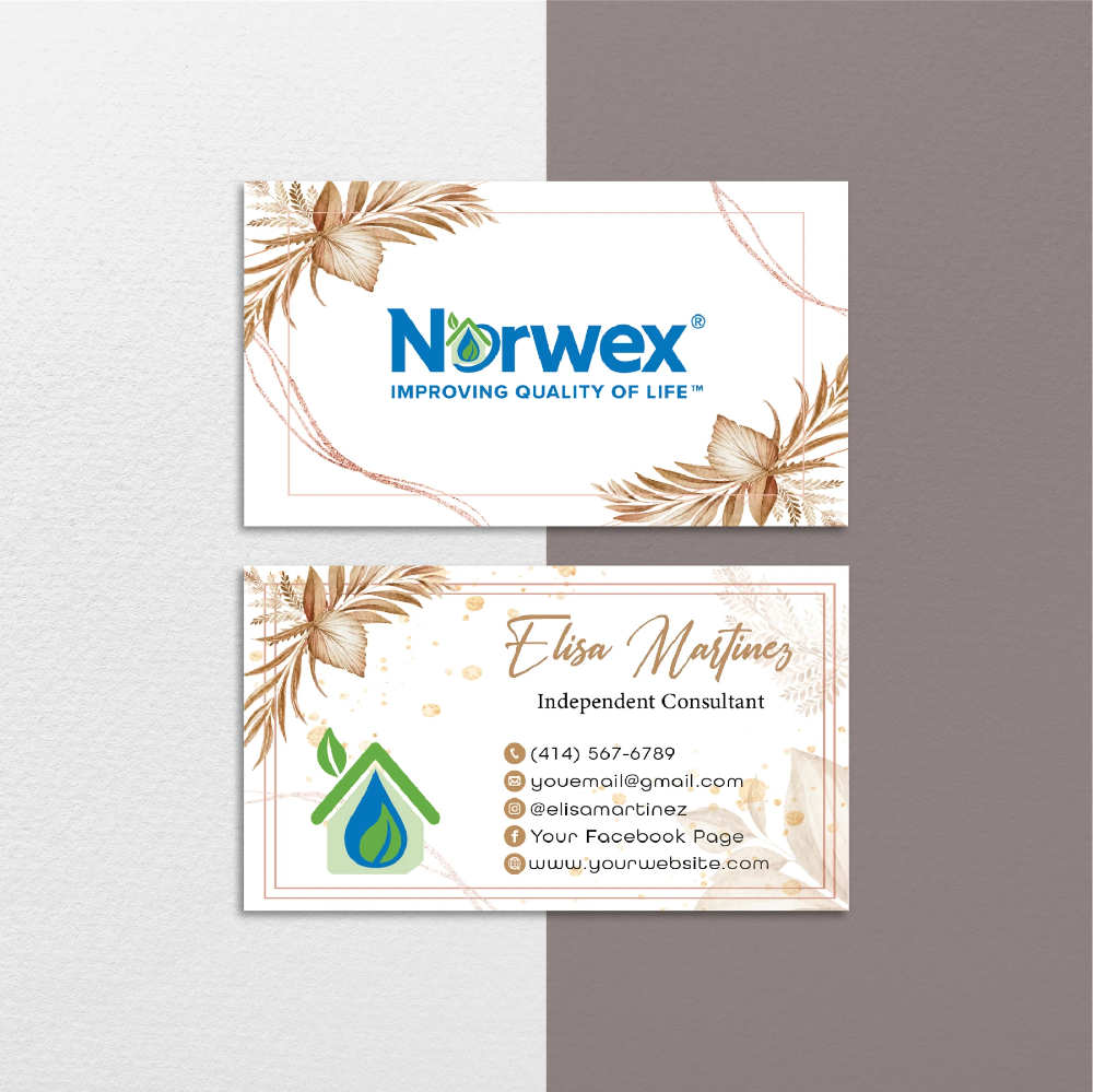Norwex Business Cards Vintage Personalized Norwex Template Nr37 Custom Business Cards Cleaning Business Cards Personal Business Cards
