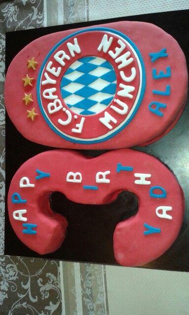 Fc bayern torte mit fondant