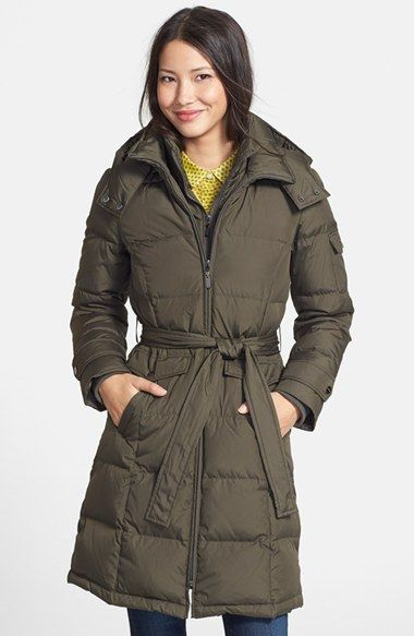d90b022e158 Ellen Tracy Belted Down Coat (Regular & Petite) (Online Only ...