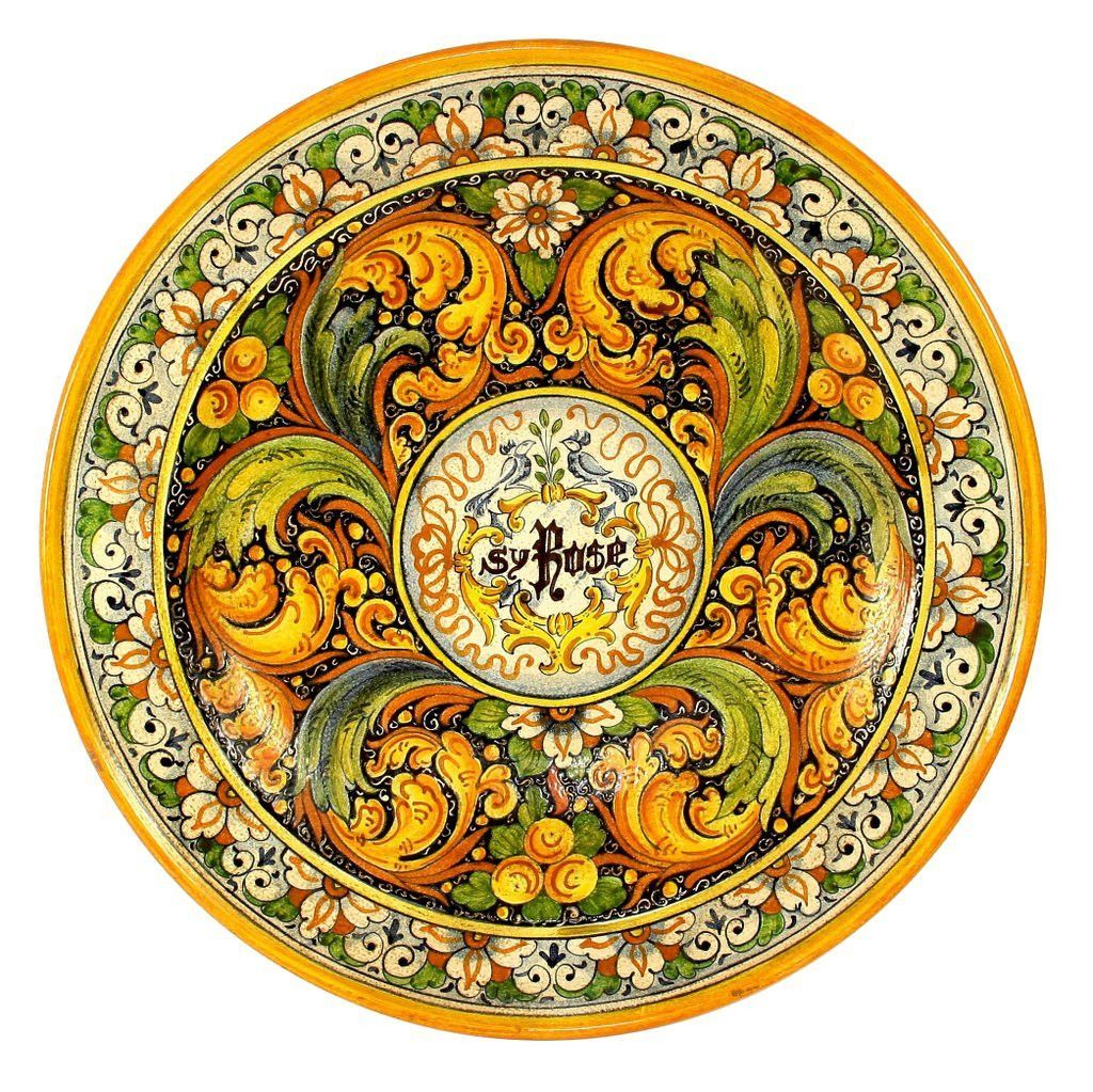 VENEZIA: Large Wall Plate (26D)   Ceramic and Pottery Wall Tiles ...