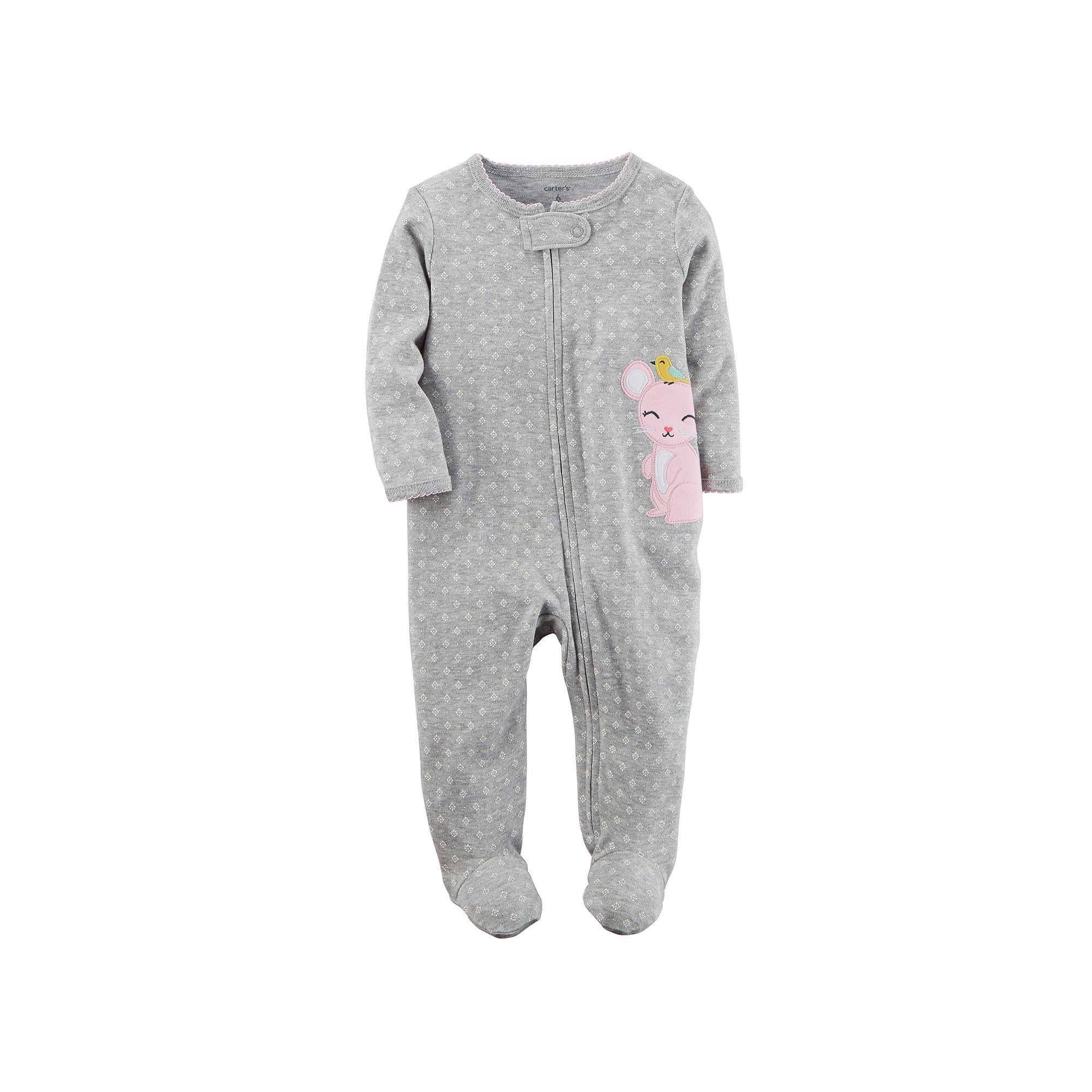 5e72fcc674ce Carter s Baby Girl Embroidered Sleep   Play