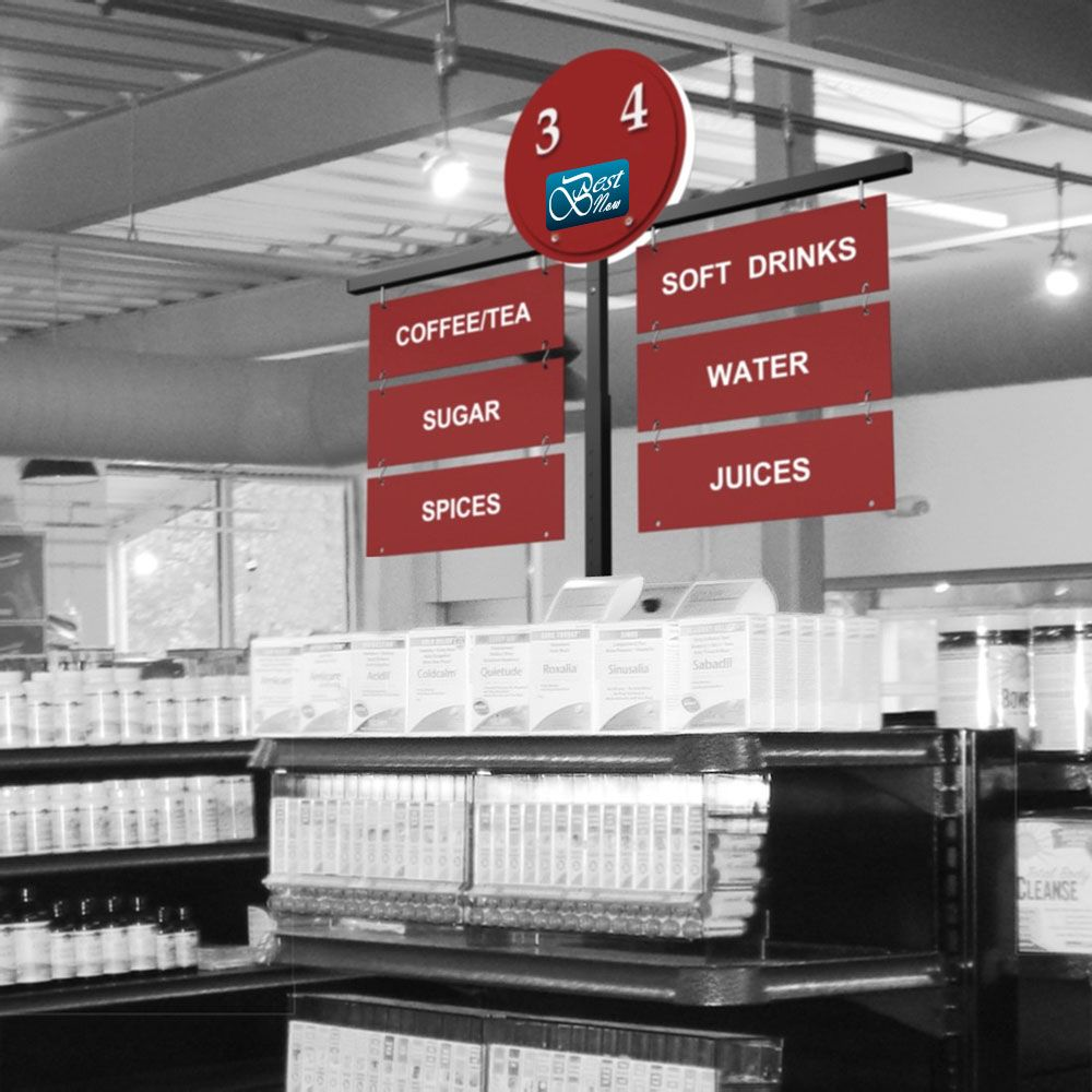 UPTON ENDCAP, Economy Aisle Signs for Retail Shelving