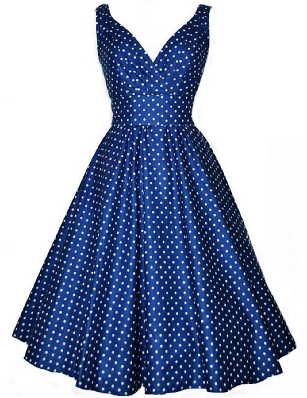 Vintage Année 50 destiné padgene robe année 50 v-cou robe de bal style rockabilly swing À