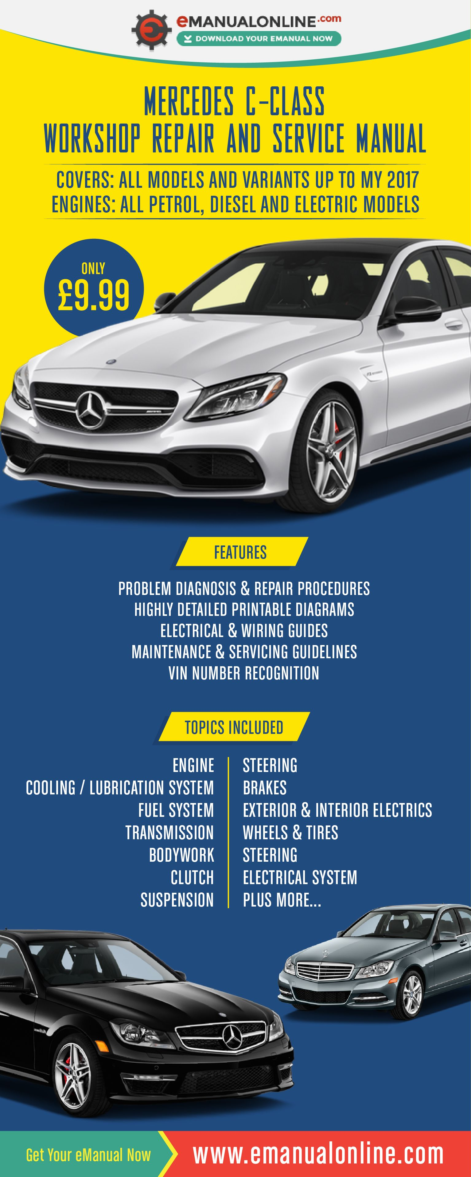 Mercedes C-Class Workshop Repair And Service Manual. The detailed  information contained within this workshop manual is quite simply stunning.
